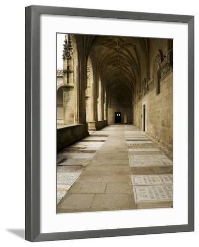 Graves in the Cloisters of Santiago Cathedral, Santiago De Compostela, Galicia, Spain-R H Productions-Framed Art Print
