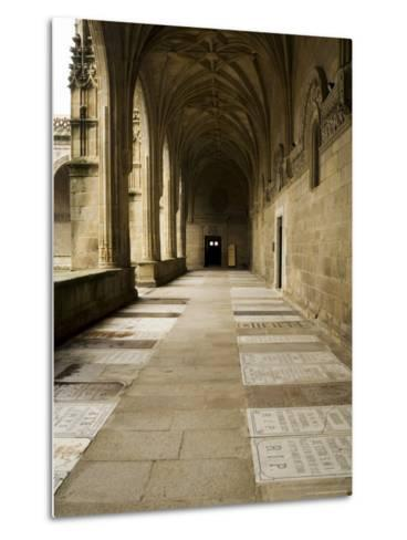 Graves in the Cloisters of Santiago Cathedral, Santiago De Compostela, Galicia, Spain-R H Productions-Metal Print