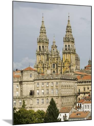 Santiago Cathedral with the Palace of Raxoi in Foreground, Santiago De Compostela, Spain-R H Productions-Mounted Photographic Print