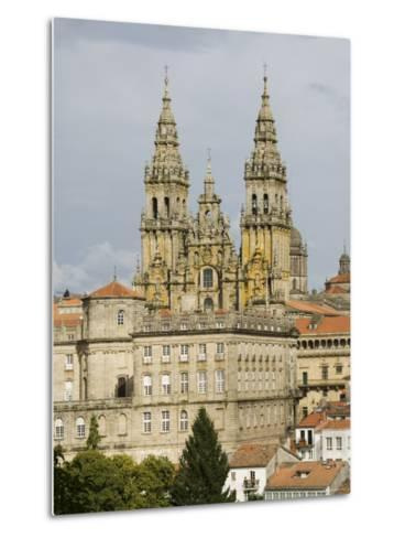 Santiago Cathedral with the Palace of Raxoi in Foreground, Santiago De Compostela, Spain-R H Productions-Metal Print
