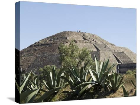 Pyramid of the Moon, Teotihuacan, 150Ad to 600Ad and Later Used by the Aztecs, North of Mexico City-R H Productions-Stretched Canvas Print