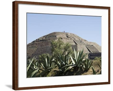Pyramid of the Moon, Teotihuacan, 150Ad to 600Ad and Later Used by the Aztecs, North of Mexico City-R H Productions-Framed Art Print