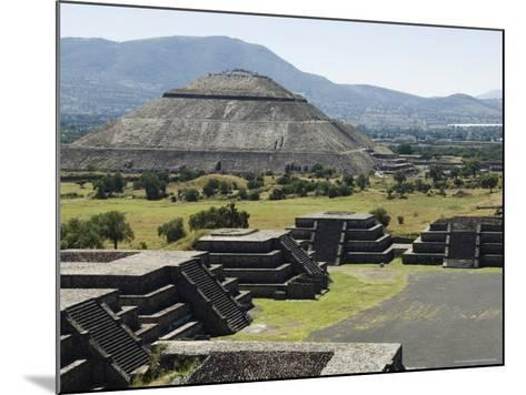 View from Pyramid of the Moon of the Avenue of the Dead and the Pyramid of the Sun Beyond-R H Productions-Mounted Photographic Print