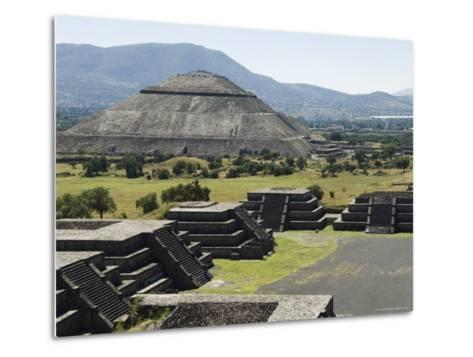 View from Pyramid of the Moon of the Avenue of the Dead and the Pyramid of the Sun Beyond-R H Productions-Metal Print