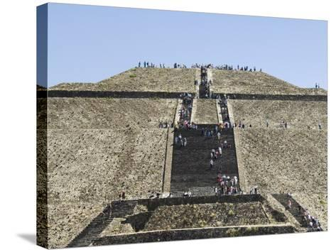 Pyramid of the Sun, Teotihuacan, 150Ad to 600Ad and Later Used by the Aztecs, North of Mexico City-R H Productions-Stretched Canvas Print