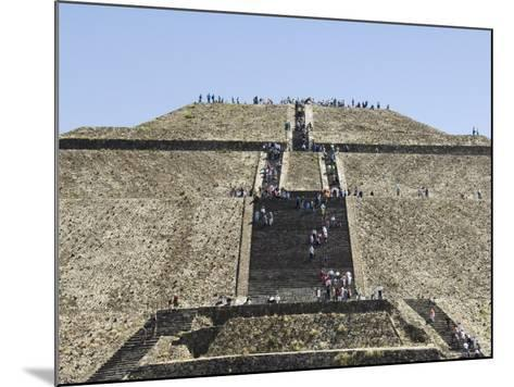 Pyramid of the Sun, Teotihuacan, 150Ad to 600Ad and Later Used by the Aztecs, North of Mexico City-R H Productions-Mounted Photographic Print