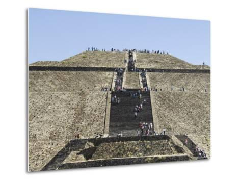 Pyramid of the Sun, Teotihuacan, 150Ad to 600Ad and Later Used by the Aztecs, North of Mexico City-R H Productions-Metal Print
