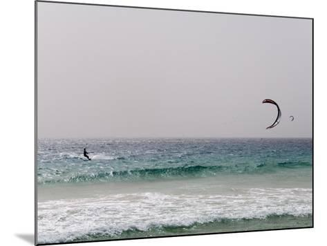 Kite Surfing at Santa Maria on the Island of Sal (Salt), Cape Verde Islands, Africa-R H Productions-Mounted Photographic Print
