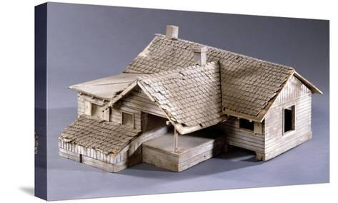 Model for Dorothy's Farmhouse in Kansas for the Film 'The Wizard of Oz', 1939--Stretched Canvas Print