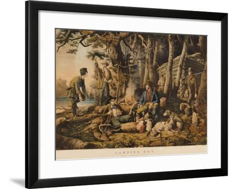 Camping out, Some of the Right Sort, 1856, Nathaniel Currier, Publisher-Mary Cassatt-Framed Art Print