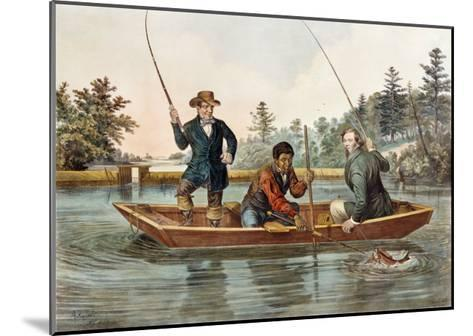 Catching a Trout, We Hab You Now, Sar!, 1854, Published by Nathaniel Currier-Mary Cassatt-Mounted Giclee Print