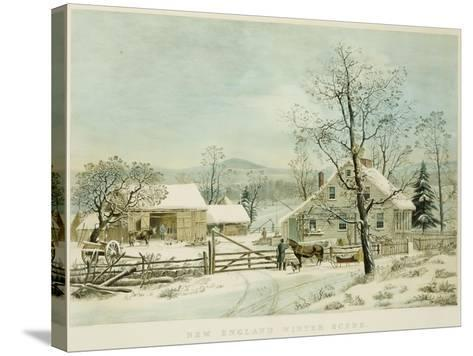 New England Winter Scene, 1861, Currier and Ives, Publishers-Mary Cassatt-Stretched Canvas Print
