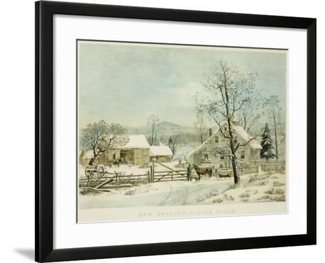 New England Winter Scene, 1861, Currier and Ives, Publishers-Mary Cassatt-Framed Art Print