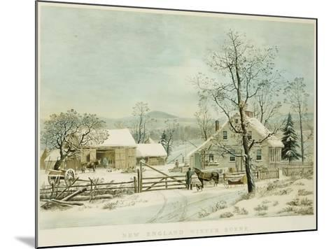 New England Winter Scene, 1861, Currier and Ives, Publishers-Mary Cassatt-Mounted Giclee Print