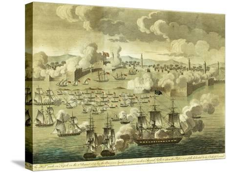 The Attack Made on Tripoli on the 3rd of August 1804, by the Commodore Edward Preble, 1805-John Bachman-Stretched Canvas Print
