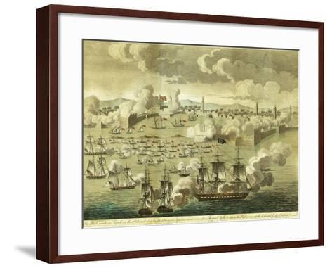 The Attack Made on Tripoli on the 3rd of August 1804, by the Commodore Edward Preble, 1805-John Bachman-Framed Art Print
