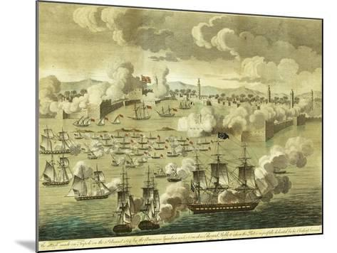 The Attack Made on Tripoli on the 3rd of August 1804, by the Commodore Edward Preble, 1805-John Bachman-Mounted Giclee Print