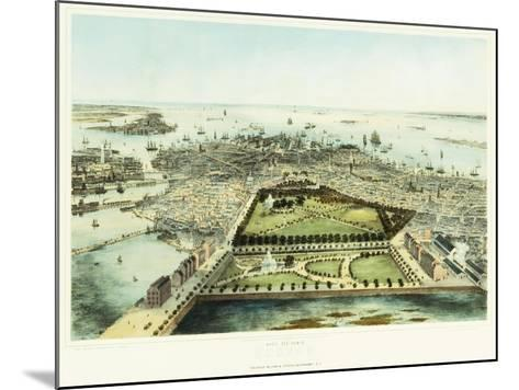 A Bird's Eye View of Boston, 1850-John Bachman-Mounted Giclee Print