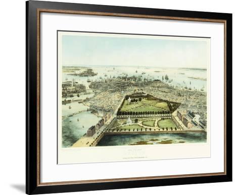 A Bird's Eye View of Boston, 1850-John Bachman-Framed Art Print