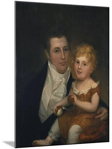 Portrait of Dr. Samuel Simes and His Daughter, Mary Jane-Thomas Birch-Mounted Giclee Print