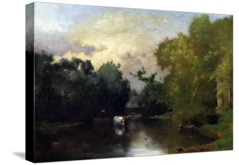The Sequonac, New Jersey, 1877-Thomas Birch-Stretched Canvas Print
