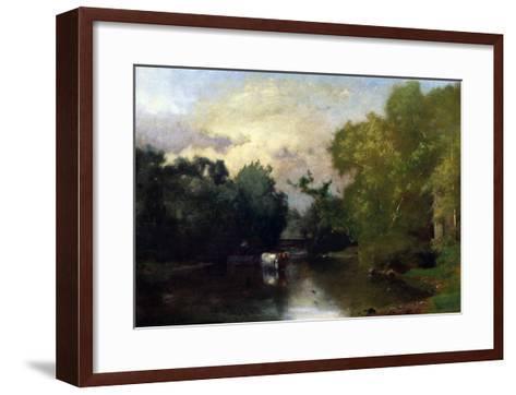 The Sequonac, New Jersey, 1877-Thomas Birch-Framed Art Print