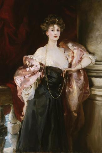 Portrait of Lady Helen Vincent, Viscountess D'Abernon, 1904-Soren Emil Carlsen-Stretched Canvas Print