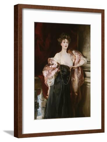 Portrait of Lady Helen Vincent, Viscountess D'Abernon, 1904-Soren Emil Carlsen-Framed Art Print