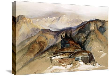 Distant Peaks, 1873-Thomas Moran-Stretched Canvas Print