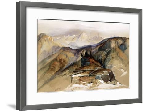 Distant Peaks, 1873-Thomas Moran-Framed Art Print