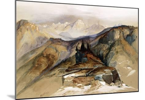 Distant Peaks, 1873-Thomas Moran-Mounted Giclee Print