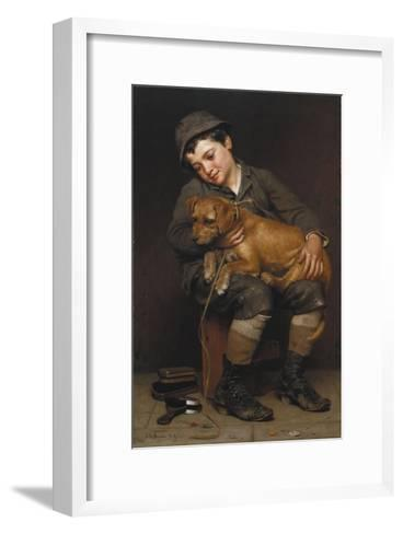 Friends-John George Brown-Framed Art Print