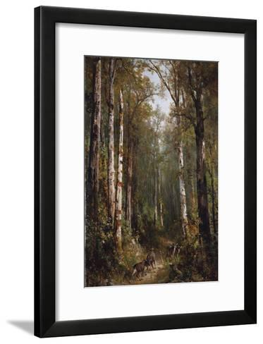 In the Forest, 1885-Thomas Hill-Framed Art Print