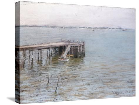 Long Island Pier-William Merritt Chase-Stretched Canvas Print