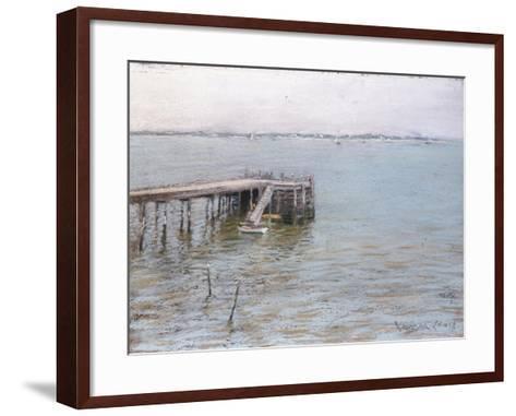 Long Island Pier-William Merritt Chase-Framed Art Print