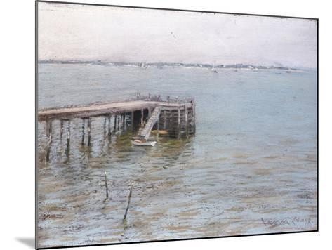 Long Island Pier-William Merritt Chase-Mounted Giclee Print