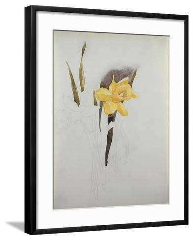 Study of Daffodils-George Wesley Bellows-Framed Art Print
