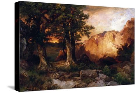 Western Sunset, 1897-Thomas Moran-Stretched Canvas Print
