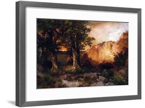 Western Sunset, 1897-Thomas Moran-Framed Art Print