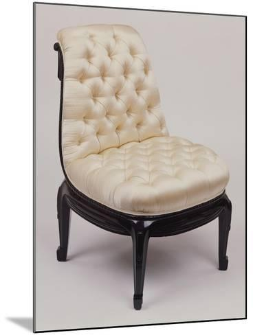 A Sue Et Mare Solid Ebony Nursing Chair--Mounted Giclee Print
