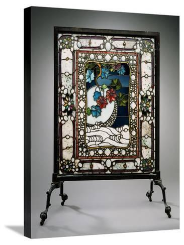A Leaded Glass Fire Screen-Adler & Sullivan-Stretched Canvas Print