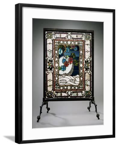 A Leaded Glass Fire Screen-Adler & Sullivan-Framed Art Print