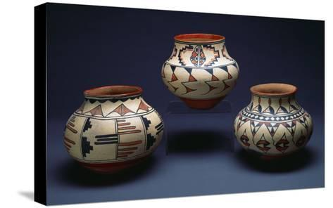 San Ildefonso Pueblo Pottery--Stretched Canvas Print