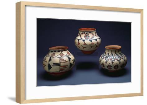 San Ildefonso Pueblo Pottery--Framed Art Print