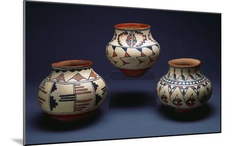 San Ildefonso Pueblo Pottery--Mounted Giclee Print