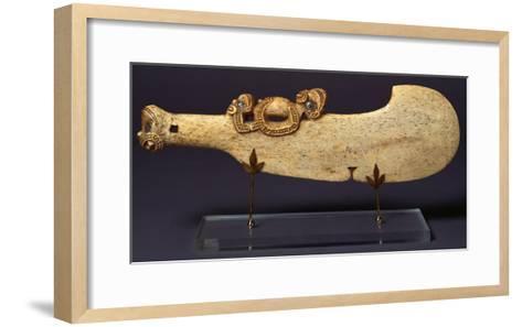 A Fine Maori Whalebone Club--Framed Art Print