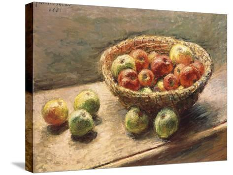 A Bowl of Apples, 1880-Edgar Degas-Stretched Canvas Print