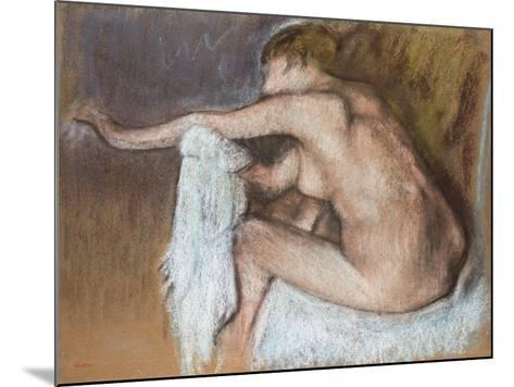 Woman Drying Her Arm, Circa 1884-Edgar Degas-Mounted Giclee Print