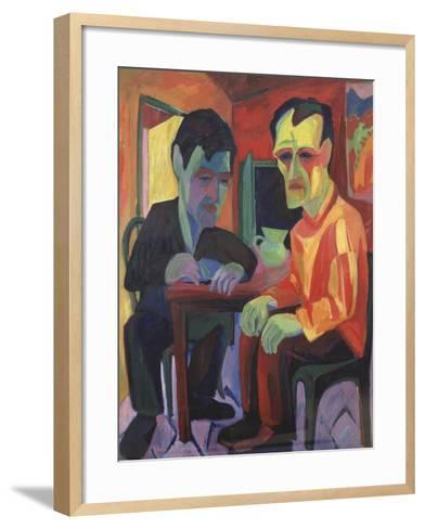 The Discussion, Circa 1925-Edgar Degas-Framed Art Print