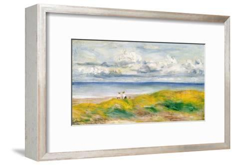 On the Cliffs, 1880-Pierre-Auguste Renoir-Framed Art Print